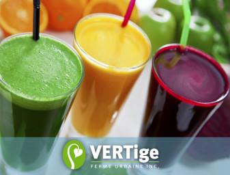 L'entreprise VERTige ferme urbaine se renouvelle avec des jus verts et smoothies frais, offerts en magasin face au parc Jacques-Cartier